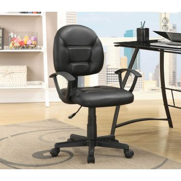 Ashton Black Leather Office Chair