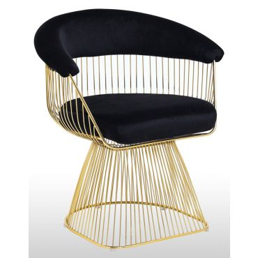 Aspen Black Velvet Accent Chair