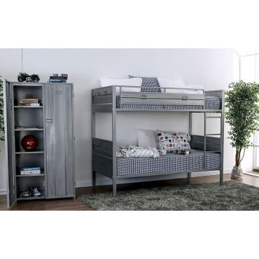 Aston Industrial Style Bunk Bed