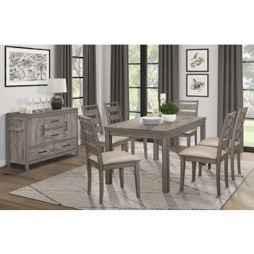 Atenna Rustic Grey Dining Table Set