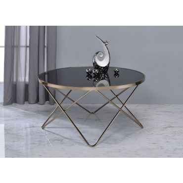 Atkins Black Glass Top Coffee Table