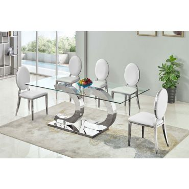 Atmore Glass Top Dining Table