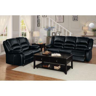 Aubrey Black Recliner Sofa