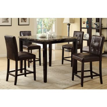 Avery Faux Marble Top Pub Table Set