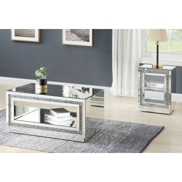 Axel Mirrored Coffee Table With Crystals