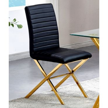 Xavia Gold Finish Dining Chairs