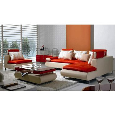 Modern Leather Sectional Sofa B 205
