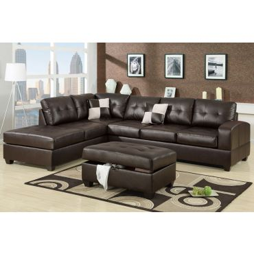 Bailey Modern Leather Sectional Sofa