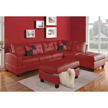 Bailey Red Leather Sectional
