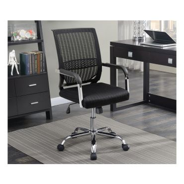 Balt Black Mesh Fabric Office Chair