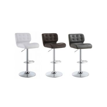 Micah Tufted Leather Modern Bar Stool