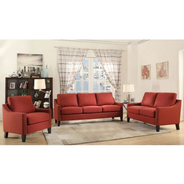 Bayside Red Linen Sofa