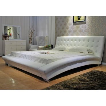 Belaire Modern Platform Leather Bed