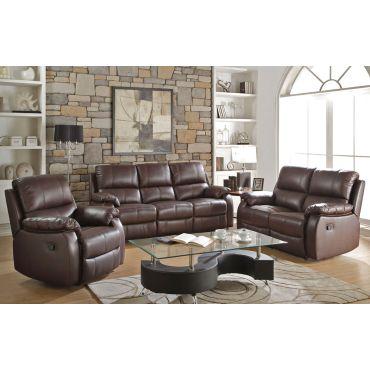 Beldan Brown Leather Recliner Sofa