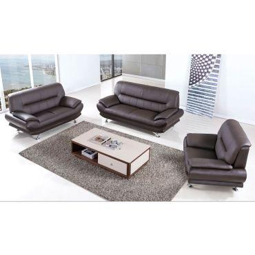Bella Dark Chocolate Genuine Leather Sofa