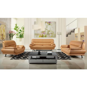 Bella Modern Genuine Leather Sofa Set