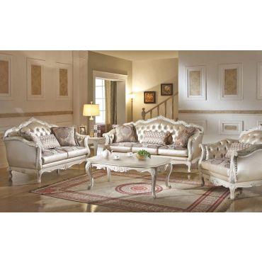 Bencivenni Pearl White Classic Sofa Collection