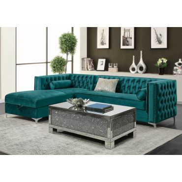 Benett Crystal Tufted Sectional With Storage