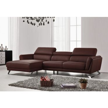 Beren Modern Sectional Brown Leather