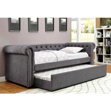 Bernadette Tufted Fabric Daybed Set