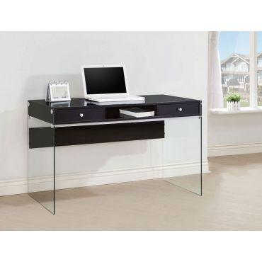 Bernice Glossy Black Writing Desk