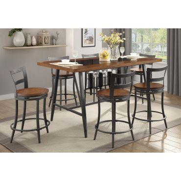Berwick Industrial Style Pub Table 5-Piece Set