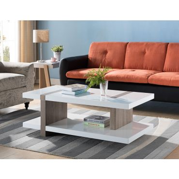 Biagio Glossy White Coffee Table