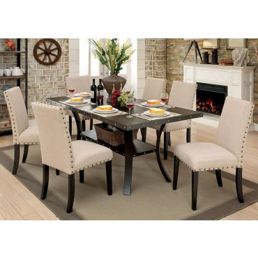 Biony Industrial Dining Table Set,Biony Table Top