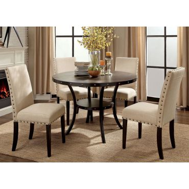 Biony Industrial Style Round Table Set