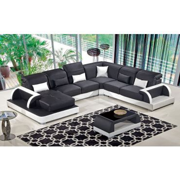 Ritz Modern Sectional With Coffee Table