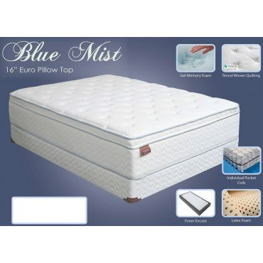 Blue Mist Memory Foam Pillow Top Mattress