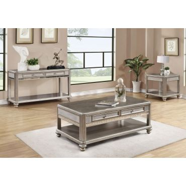 Blyss Platinum Coffee Table With Drawers