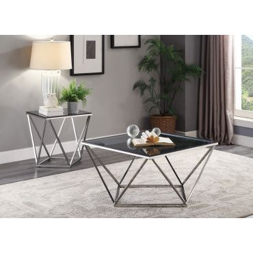 Boga Black Glass Top Coffee Table