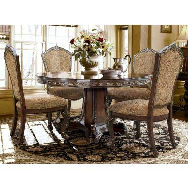 Bonita Traditional Round Dining Table Set