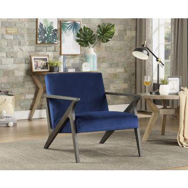 Bonjour Navy Blue Velvet Accent Chair