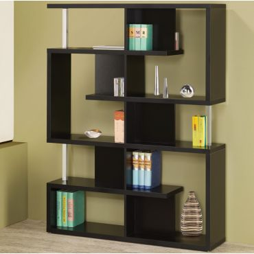 Borum Modern Style Black Bookcase