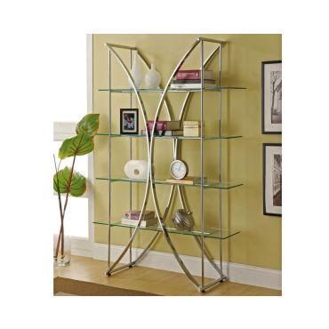 Damon Modern Glass Bookshelf