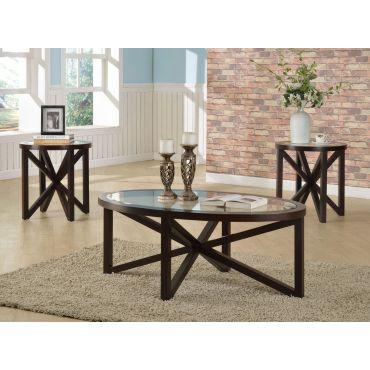 Bosworth Oval Shape Coffee Table Set