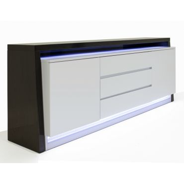 Boyton Grey Lacquer Server With LED Light
