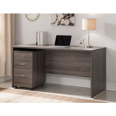 Bonnie Rustic Grey Home Office Desk