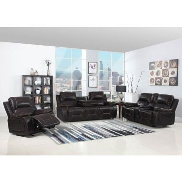Brett Chocolate Leather Recliner Sofa