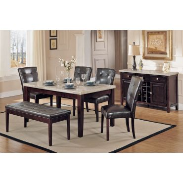 Britney Marble Top Dining Table Set