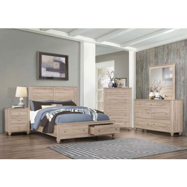 Bronco Storage Bed Rustic Oak Finish
