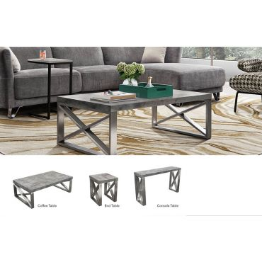 Bronx Concrete Top Coffee Table