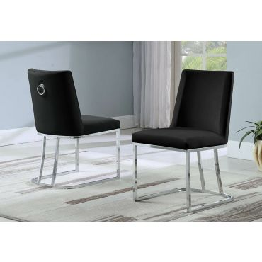 Brooke Black Velvet Dining Chair