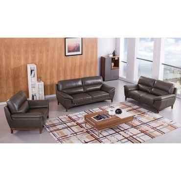 Brookville Italian Leather Living Room