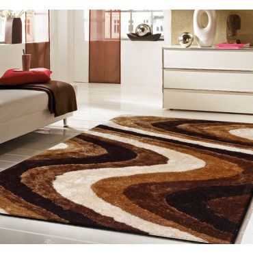Brown Living Shag Rug 112