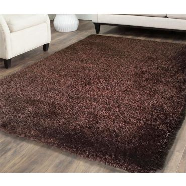 Shag Visco Hand Tufted Brown Rug