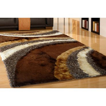 Brown Shaggy Modern Rug Design 55
