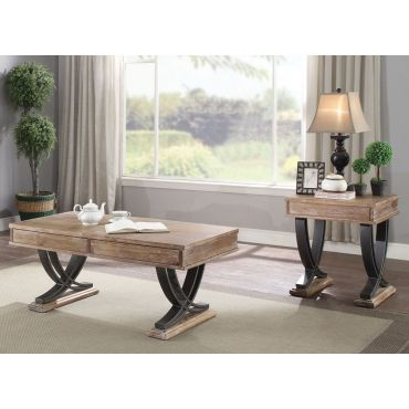 Bryan Rustic Finish Storage Coffee Table